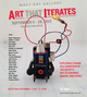 "poster for ""Art that Iterates: Exploring change as the artist's way of knowing, making and doing"" Exhibition"