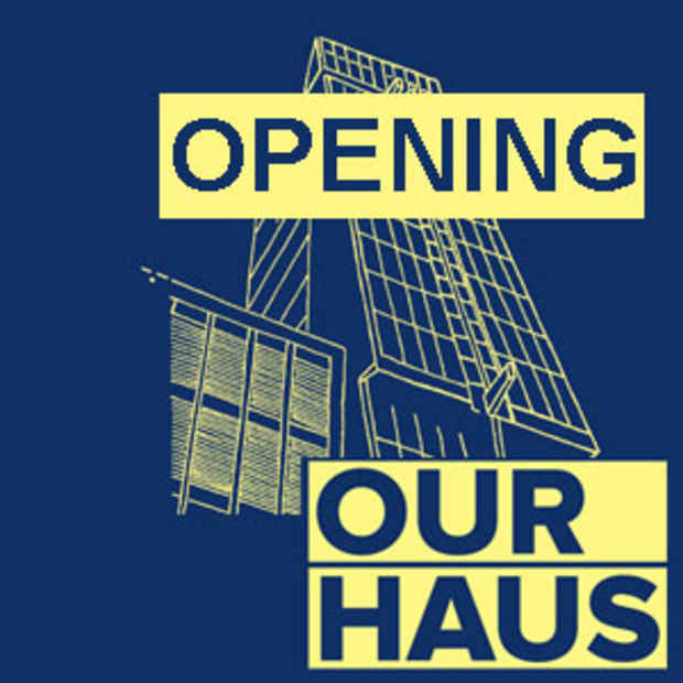 "poster for ""Our Haus"" Exhibition"