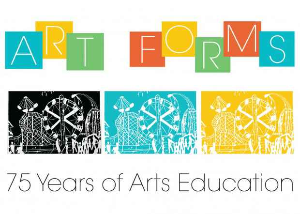 "poster for ""Art Forms: 75 Years of Arts Education"" Exhibition"