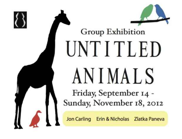 "poster for ""Untitled Animals"" Exhibition"