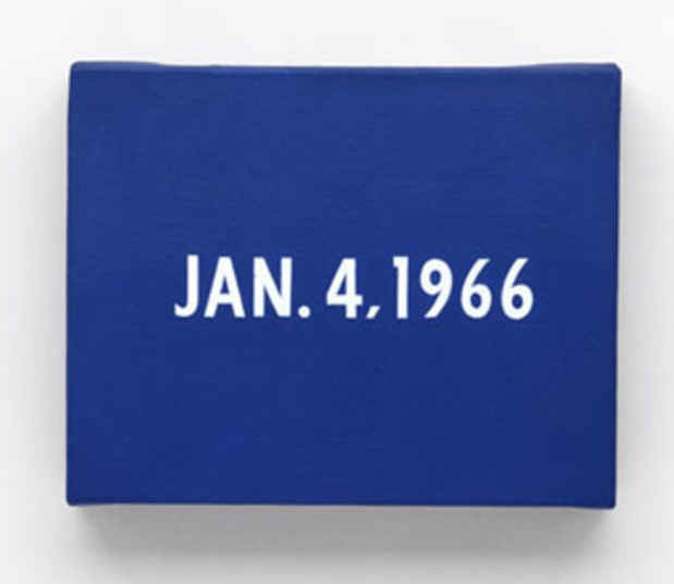 "poster for On Kawara ""Date Painting(s)"""