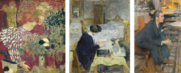 "poster for Edouard Vuillard ""A Painter and His Muses, 1890-1940"""