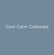 "poster for ""Cool Calm Collected"" Exhibition"