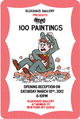 "poster for Aaron Oblvn ""100 Paintings"""