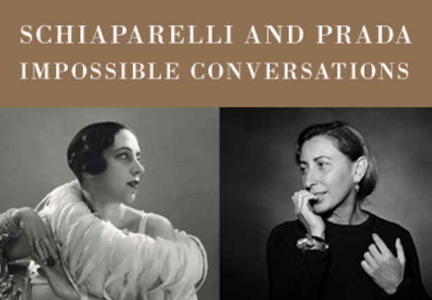 "poster for ""Schiaparelli and Prada: Impossible Conversations"" Exhibition"