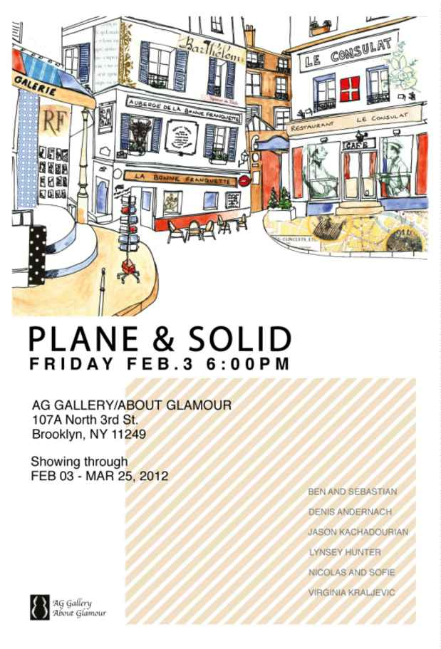 "poster for ""Plane & Solid"" Exhibition"