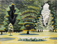"poster for Charles Burchfield ""Landscapes 1916-1962"""