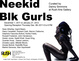 "poster for ""Neekid Blk Gurls"" Exhibition"