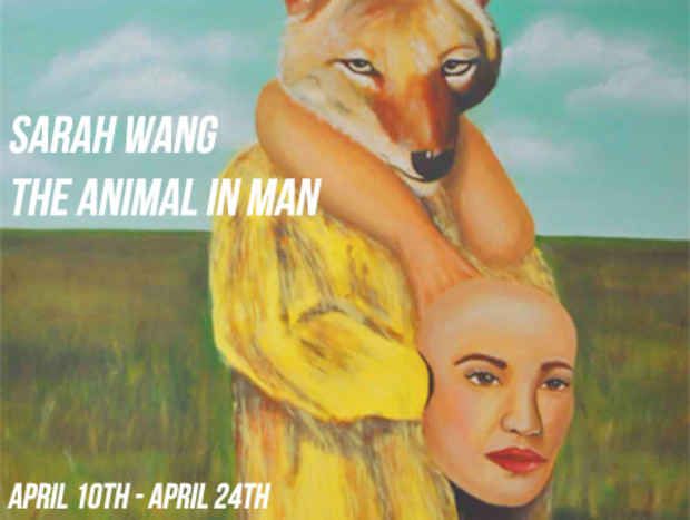 "poster for Sarah Wang ""The Animal in Man"""