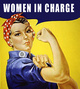"poster for ""Women In Charge!"" Exhibition"