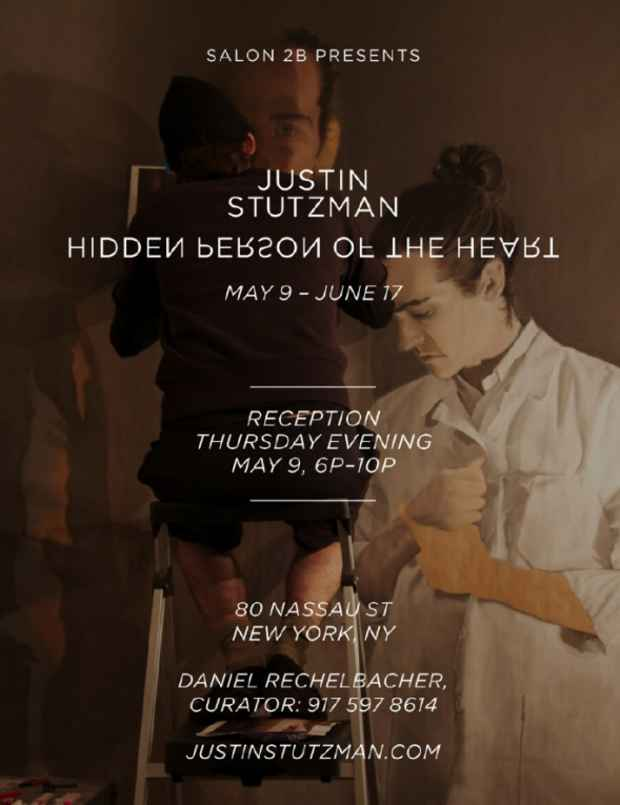 "poster for Justin Stutzman ""Hidden reason of the heart"""