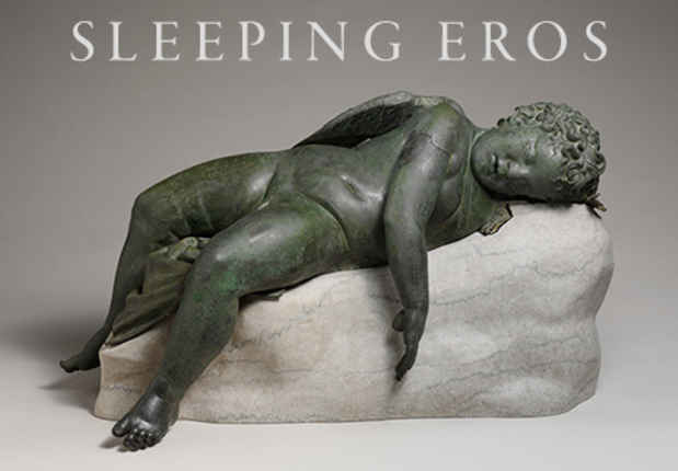 "poster for ""Sleeping Eros"" Exhibition"