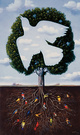 "poster for Rafal Olbinski ""The Virtue of Ambiguity"""