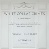 "poster for ""White Collar Crimes"" Exhibition"