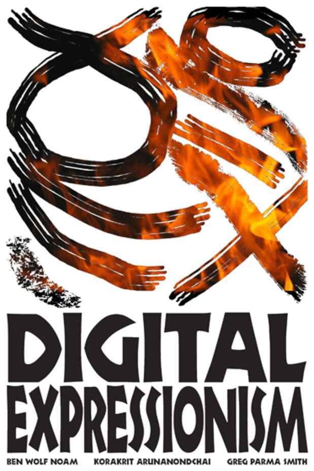 "poster for ""Digital Expressionism"" Exhibition"