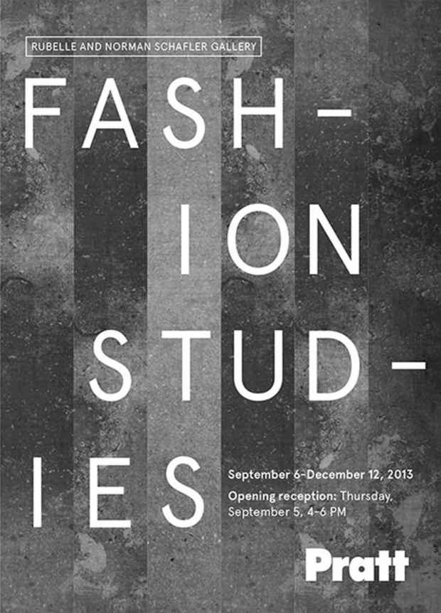"poster for ""Fashion Studies"" Exhibition"