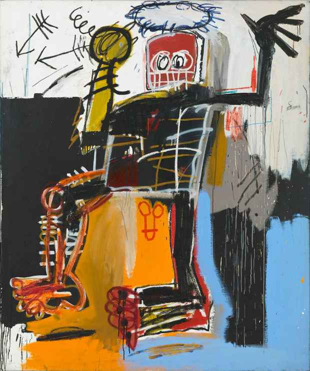 poster for Jean-Michel Basquiat Exhibition