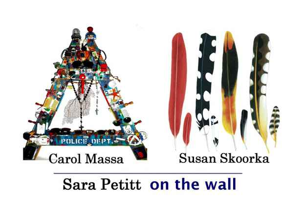 "poster for Carol Massa ""Mixed Bag"", Susan Skoorka ""It's What You See"", Sara Petitt ""De Constructed Calendar"""
