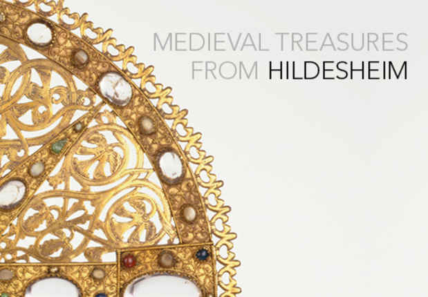 "poster for ""Medieval Treasures from Hildesheim"" Exhibition"