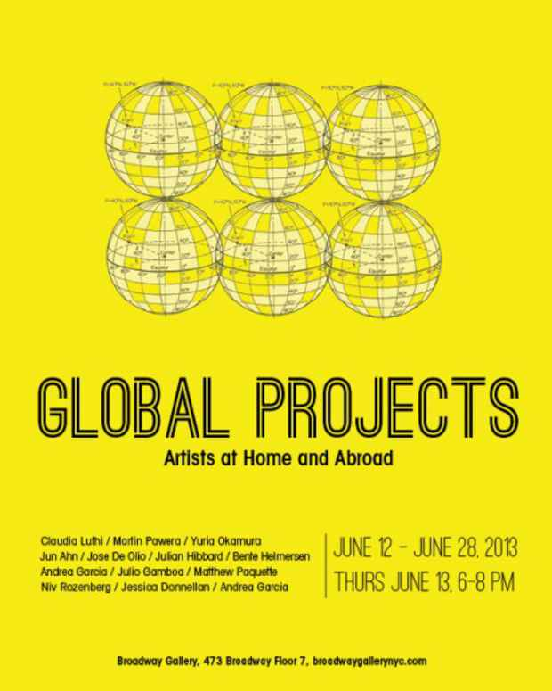 "poster for ""June Global Projects 2013"" Exhibition"