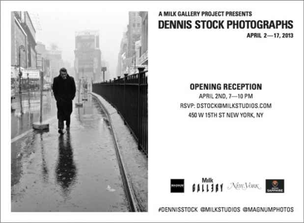 poster for Dennis Stock Exhibition