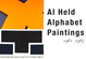"poster for Al Held ""Alphabet Paintings"""