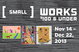 "poster for ""Small Works: $100 & Under"" Exhibition"