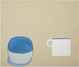 "poster for William Scott ""Domestic Forms Late Paintings, 1976–86"""