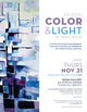 "poster for Daniel Wolfe ""Color & Light"""
