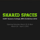 "poster for ""Shared Space"" CUNY Queens College, MFA Exhibition 2013"