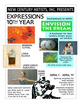 "poster for ""Expressions 10th Year"" Exhibition"