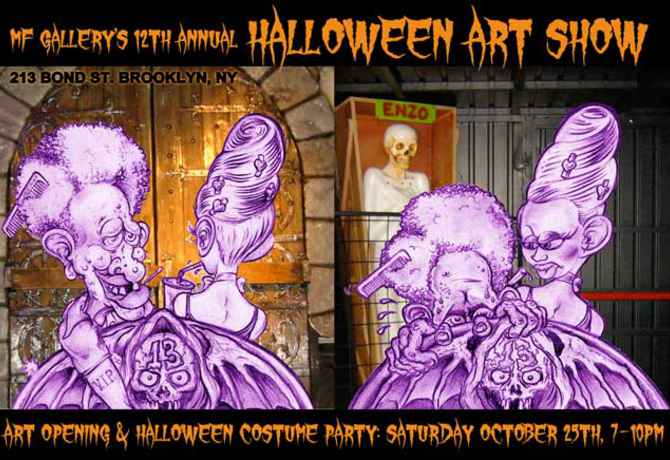 "poster for ""MF Gallery's 12th Annual Halloween Art Show"""