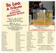 "poster for ""To Leo, A Tribute From The American Abstract Artists"" Exhibition"