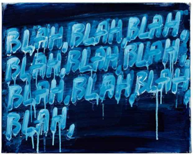 "poster for Mel Bochner ""Strong Language"""