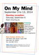 "poster for ""On My Mind"" Exhibition"