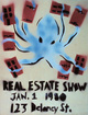 "poster for ""The Real Estate Show, What Next: 2014"" Exhibition"