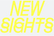 "poster for ""New Sights New Noise"" Exhibition"