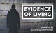 "poster for ""Evidence of Living"" Interactive Exhibition"