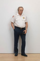 "poster for Duane Hanson ""Security Guard"""
