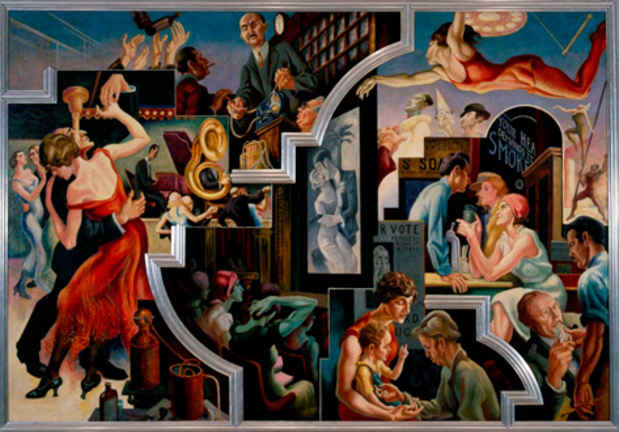 "poster for Thomas Hart Benton ""America Today Mural Rediscovered"""