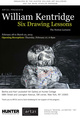 "poster for William Kentridge ""Six Drawing Lessons"""