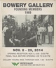 "poster for ""Bowery Gallery Founding Members 1969"" Exhibition"