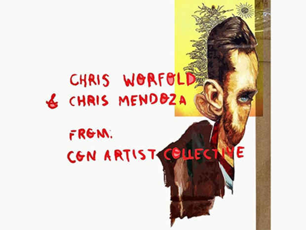 "poster for Chris Mendoza and Chris Worfold ""Chris X Cross"""