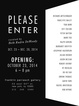 "poster for ""Please Enter"" Exhibition"