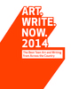 "poster for ""Art.Write.Now. 2014 National Exhibition"""