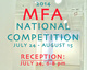 "poster for ""2014 MFA National Competition"" Exhbition"