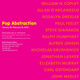 "poster for ""Pop Abstraction"" Exhibition"