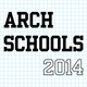 "poster for ""Arch Schools 2014"" Exhibition"