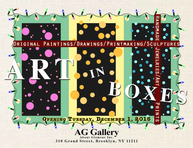 "poster for ""Art In Boxes 2015"" Exhibition"