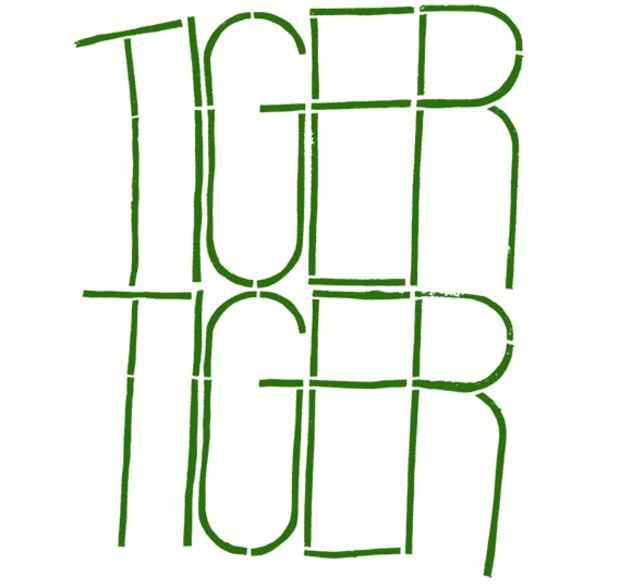 "poster for ""Tiger Tiger"" Exhibition"